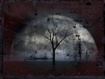 Grunge tree Stock Photography