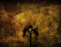 Grunge Tree. Deep Grunge Abstract landscape & Tree Stock Image