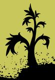Grunge tree. Grunge vector tree grows in a dirt royalty free illustration