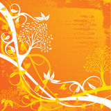 Grunge tree background, royalty free illustration