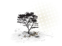 Grunge tree background Royalty Free Stock Photos