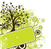 Grunge tree background, vector Stock Photography
