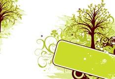 Grunge tree background, vector Stock Photo