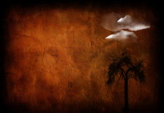 Grunge tree and cloud Royalty Free Stock Photo