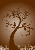 Grunge tree design. Abstract vector grunge tree design Royalty Free Stock Photography