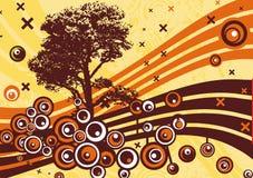 Grunge tree design Stock Image