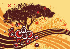 Grunge tree design Stock Photography