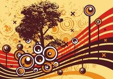 Grunge tree design Stock Images