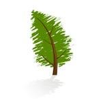 Grunge tree icon Stock Photos