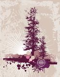 Grunge Tree Silhouette Background Royalty Free Stock Photography