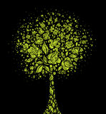 Grunge tree symbol from flowers. Vector grunge modern design - tree symbol from  flowers Stock Photography