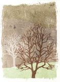 Grunge trees illustration - autumn Royalty Free Illustration
