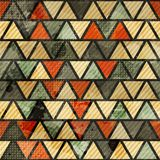 Grunge triangle seamless pattern Stock Photography