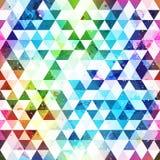 Grunge triangle seamless pattern Stock Image