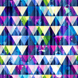 Grunge triangle seamless texture. Royalty Free Stock Images