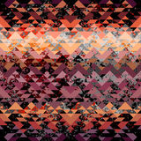 Grunge triangles pattern on chevrons background Stock Photography