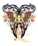 Grunge tribal dove symbol Royalty Free Stock Images