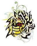 Grunge tribal dragon Stock Photo