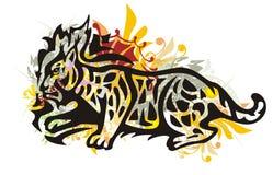 Grunge tribal lynx Royalty Free Stock Photo