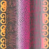Grunge tribal pattern on gray background Royalty Free Illustration