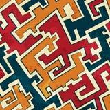 Grunge tribal seamless pattern Royalty Free Stock Image