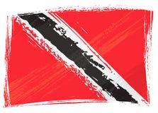 Grunge Trinidad And Tobago Markierungsfahne Lizenzfreie Stockfotografie