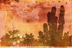 Grunge tropical ilustración del vector