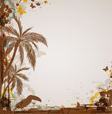 Grunge tropical background Stock Image