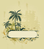 Grunge tropical background Stock Images