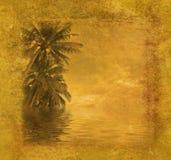 Grunge tropical frame Royalty Free Stock Photo