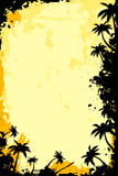 Grunge Tropical Frame Stock Image