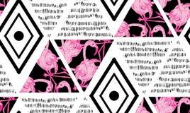 Grunge tropical  seamless pattern Stock Photo