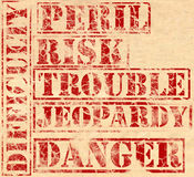 Grunge - Trouble Stock Photo