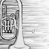 Grunge trumpet. Stock Photo