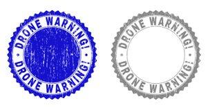 Grunge trutnia ostrzeżenie! Porysowane znaczek foki ilustracji