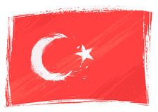 Grunge Turkey flag Stock Images