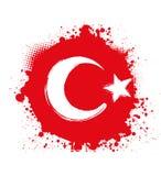 Grunge Turkey flag Royalty Free Stock Images