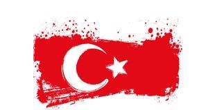 Grunge Turkey flag Stock Photography
