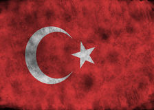 Grunge Turkey flag. Royalty Free Stock Photo