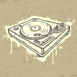 Grunge turntable Royalty Free Stock Photography