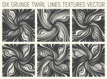 6 Grunge Twirl Lines Textures Vector Royalty Free Stock Images