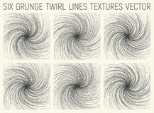 6 Grunge Twirl Lines Textures Vector Royalty Free Stock Photos