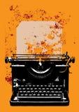Grunge typewriter with a sheet Royalty Free Stock Image