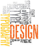 Grunge typography background. Grunge design and typography background stock illustration