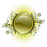 Grunge u. Hightech- vektortaste. Stockfotografie