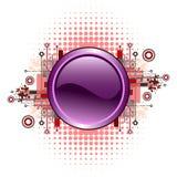 Grunge u. Hightech- vektortaste. Stockbild