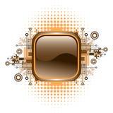 Grunge u. Hightech- vektortaste. Lizenzfreie Stockfotografie
