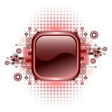 Grunge u. Hightech- vektortaste. Lizenzfreie Stockbilder