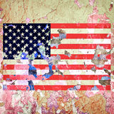 Grunge U S A Flag Stock Images