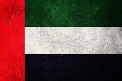 Grunge UAE flag. United Arab Emirates flag with grunge texture. Stock Image